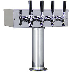 Kegco Four Faucet Kegerators Tower