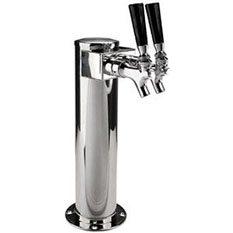 MicroMatic Standard Two Faucet Draft Beer Towers
